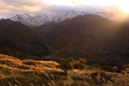樽口峠の風景