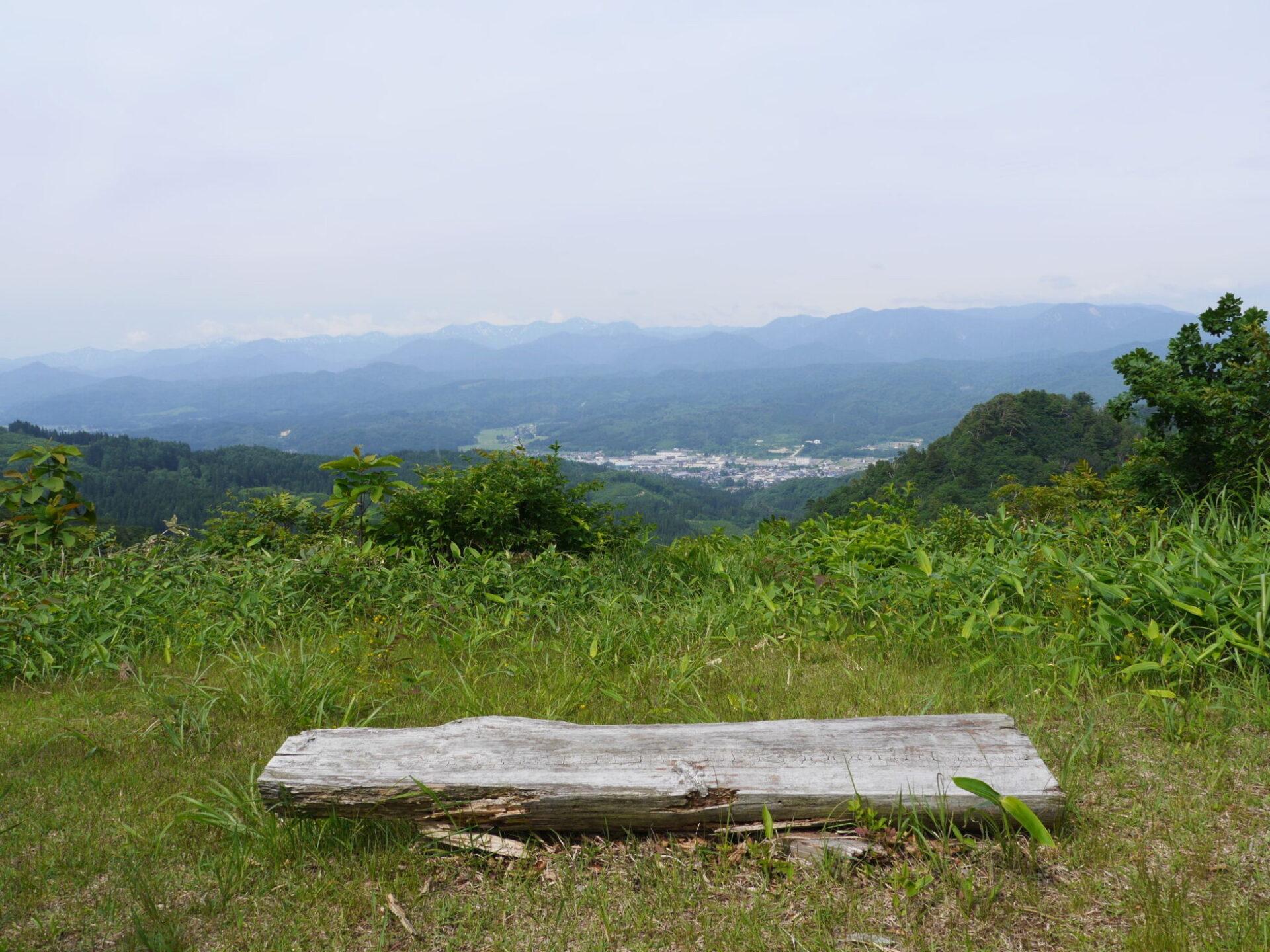 飯豊朝日展望台の風景