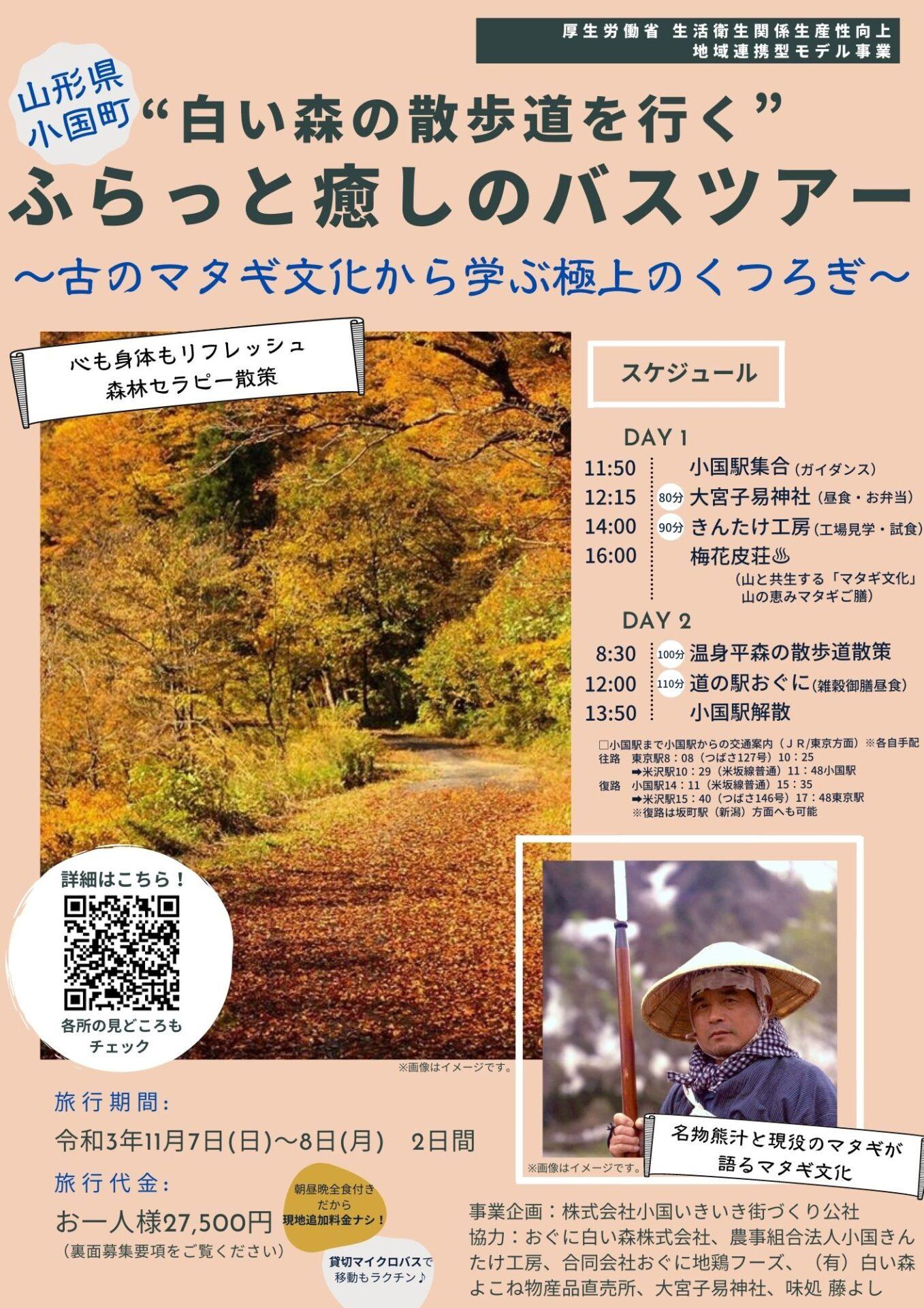 参加者募集中!白い森の散歩道を行く ふらっと癒しのバスツアー